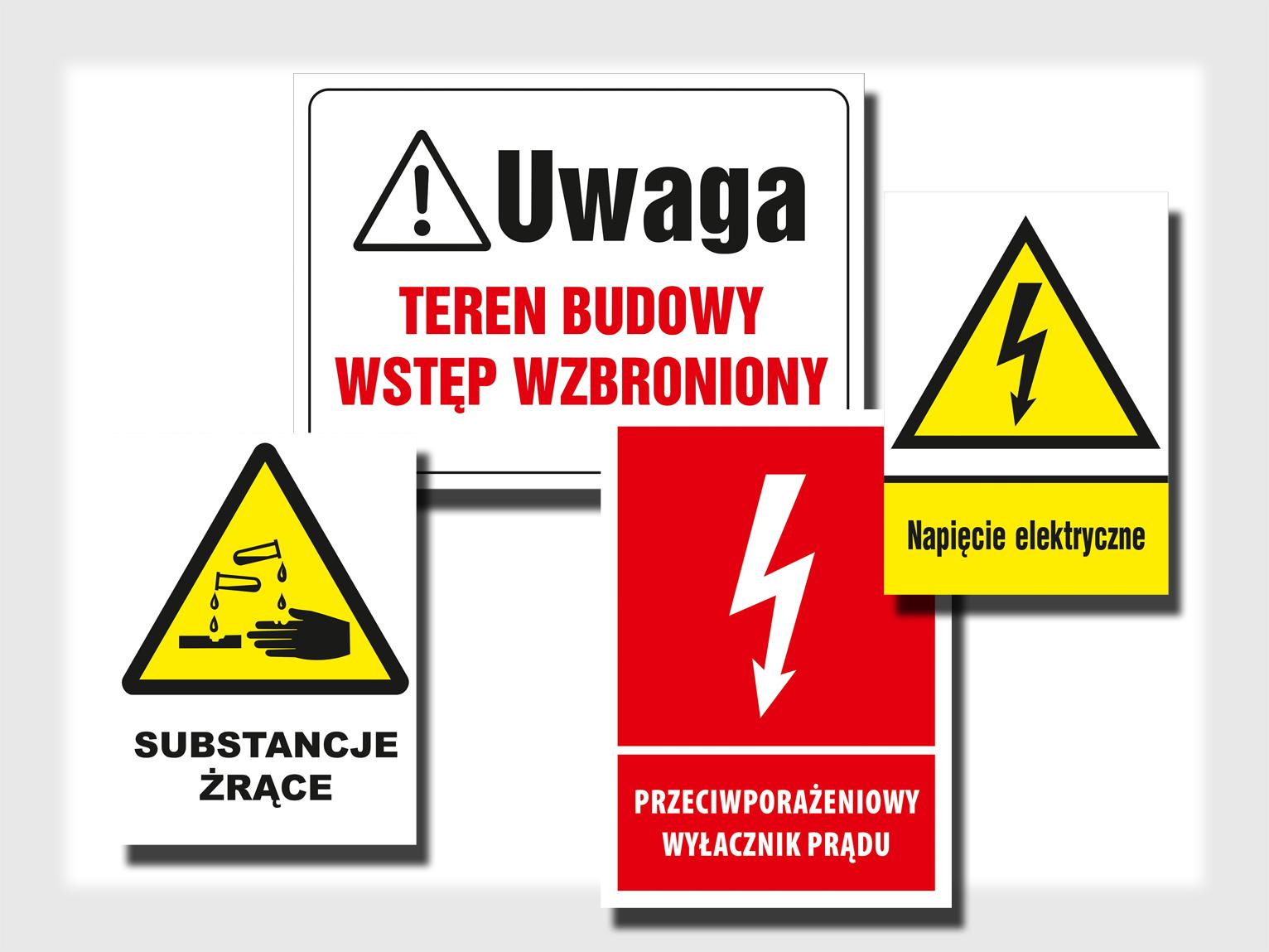 Znaki ostrzegawcze i informacyjne