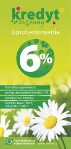 kredyt wiosenny bank spółdzielczy ulotka krz